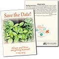 Save the Date Wedding Mixed Herb Seed Packets