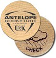 Wooden Nickels with Rain Check Stock Design