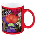 11 oz. Colored Stoneware Mugs with Full Color Imprint