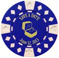 Save the Date Poker Chip Magnets with Ring Design