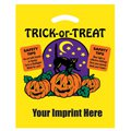 Trick-or-Treat Yellow Die Cut Plastic Bags