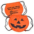 PartyTime™ Halloween Pumpkin Drawstring Backpacks