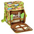 Contemporary Floral Picnic Cooler for Two