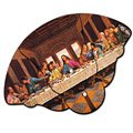 Expandable Last Supper Stock Design Church Hand Fans