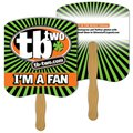 Bulk Priced Bread Slice Hand Fans (1,000 Min.)