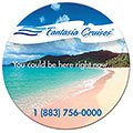 "4"" Large Round Full Color Bic® Magnets"