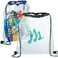 "13.25"" x 15.25"" x .25"" Rally Clear Cinch Sack"