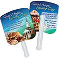 24-Hour Rush Full Color Bread Slice Hand Fans