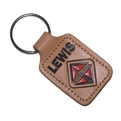 Leather Key Chains, Natural Sewn Key Fob
