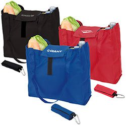Reusable Shopping Bags, Foldable Tote with Velcro Closure, 11-1/2 x 13-1/2