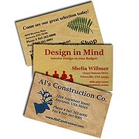 Value Wood Business Cards