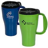 Plastic Handled Mugs, Omega, 16 oz.