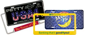 Custom License Plates and Frames | PrintGlobe