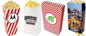 Custom Popcorn Bags | Personalized Popcorn Bags | Custom Printed Popcorn Bags