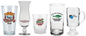 Personalized Beverage Glasses | Martini Glasses | High Ball Glasses