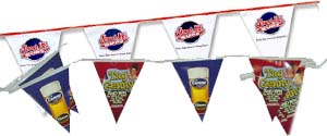 Logo Plastic String Pennants | Custom String Pennants