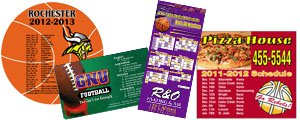 Custom Sports Magnets | Sports Schedule Magnets
