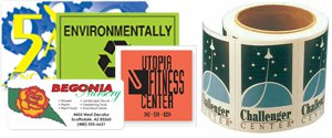 Square Roll Labels | Rectangle Roll Labels