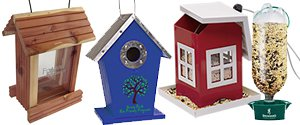 Custom Bird Houses | Personalized Wooden Birdhouses | Plastic Bird Feeders