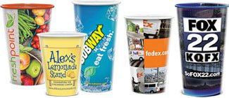 Full Color Plastic Cups | Digital Plastic Disposable Cups | Full Color Cups