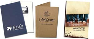 Church Welcome Folders | Foil Stamped Welcome Folders