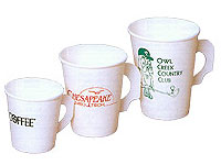 4 oz. White Paper Cups with Handles