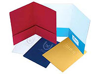"9"" x 12"" Embossed Two Pocket Presentation Folders"