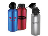 21 oz. Dome Capped Aluminum Water Bottles
