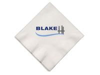 Beverage Napkins, Almost Linen, White 1-Ply