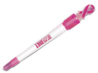 Pink Awareness Ribbon Light Up Pens