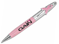 Ribbon Clip Breast Cancer Awareness Ballpoint Pens
