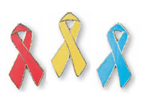 Awareness Ribbon Lapel Pins