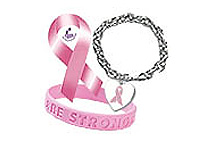 Breast Cancer Awareness Pins, Ribbons and Bracelets