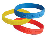 Promotional Silicone Awareness Bracelets