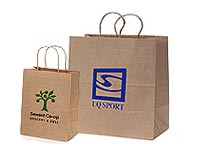 100% Recycled Paper Shopping Bags