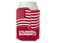 Can Koozies, Crazy Frio Beverage Holders, Flag Shaped
