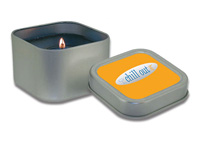 Square Shaped Tin Candles, Custom Mixed Gel, 4 Oz.