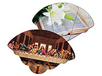 High Gloss Expandable Religious Fans