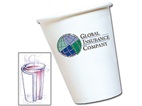 Insulated Paper Cups, 12 oz.