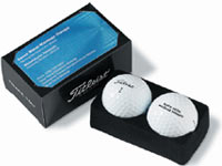 Two-Golf Ball Business Card Boxes