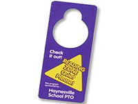 Full Color Plastic Door Hangers