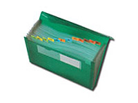 "13"" x 9-1/2"" Plastic Pocket Files with Elastic Closure"