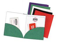 Curved Edge Pocket Folders