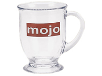 Glass Mugs, Café, 16 Oz.