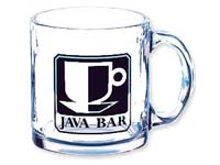 Glass Coffee Mugs, 13 Oz.