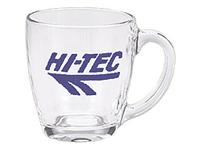 Glass Mugs, Smooth Tapered, 16 Oz.