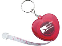 Heart Measuring Tape Keychains