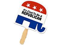 Republican Elephant Shaped Patriotic Fans