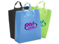 "13"" x 17"" Frosted Soft Loop Plastic Shopping Bags"