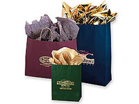 Colored Matte Shopping Bags with Handles